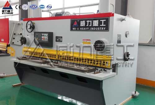 20X2500液压闸式剪板机-山东威力重工厂家直销