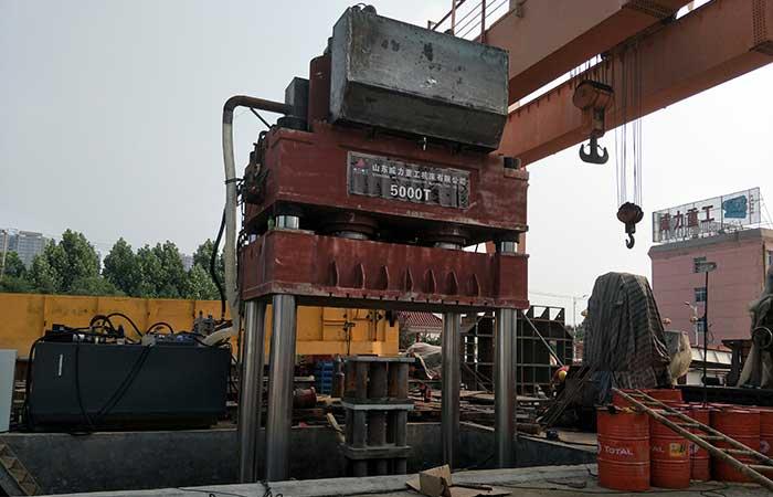 5000吨三梁四柱液压机