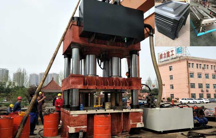 4000吨火车门拉伸成型液压机